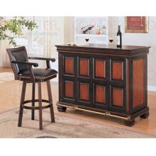 """BAR TABLE,TWO TONE/F 54""""LX24'WX42""""H"""