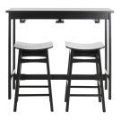 Colbie 3 Piece Pub Set - Black Product Image