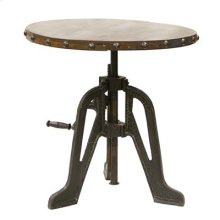 """Pub Table : 30"""" x 31"""" Extends to 42"""" Adjustable Pub Table and Barstool w/Iron Base"""