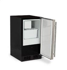 """15"""" Low Profile Crescent Ice Machine - Solid Stainless Steel Door - Left Hinge"""