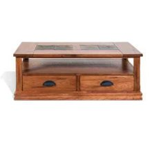 Sedona Coffee Table w/ Drawers & Casters