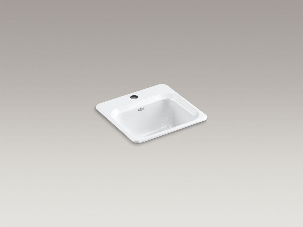Hidden · Additional White Top Mount Bar Sink With Single Faucet Hole