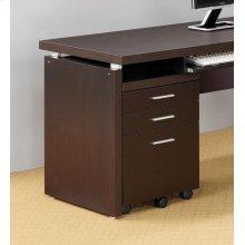 Skylar Contemporary Cappuccino Three-drawer File Cabinet