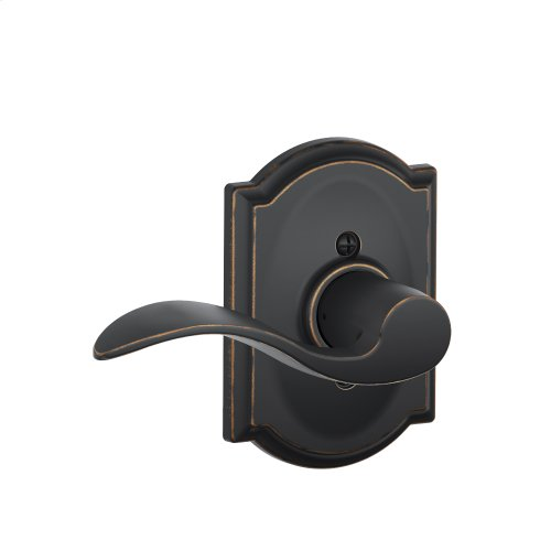 Accent Lever with Camelot trim Non-turning Lock - Aged Bronze