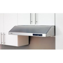 Modern, clean lines provide a perfect complement to any interior, while centrifugal blowers liquefy cooking residue without complex filters to make cleaning a snap. Available in stainless, white, bisque and black, Cyclone's three sizes and three ducting options make it one of our most versatile models.