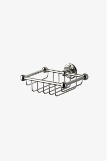 Crystal Wall Mounted Single Soap Basket STYLE: CRBA58