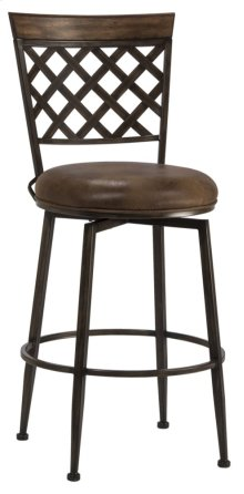 Greenfield Commercial Swivel Counter Stool - Dark Brown