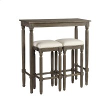 Bar Table (1 Table + 2 Stools/Ctn) - Peppercorn Gray Finish Product Image