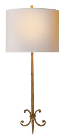 Visual Comfort SK2009GI-NP Suzanne Kasler Roswell 2 Light 11 inch Gilded Iron with Wax Decorative Wall Light in Natural Paper