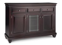Florentino Sideboard w/2 Wood Doors &1/Center Glass Door &3/Dwrs & 2/Wood & Glass Adjust. Product Image