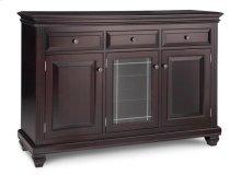 Florentino Sideboard w/2 Wood Doors &1/Center Glass Door &3/Dwrs & 2/Wood & Glass Adjust.