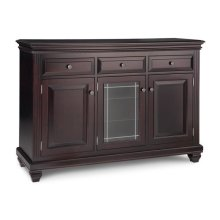 Florentino Sideboard w/2 Wood Doors &1/Center Glass Door &3/Dwrs & 2/Wood & Glass Adjust.