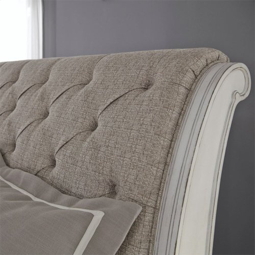 King Uph Sleigh Headboard