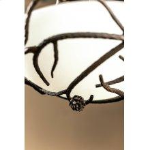 Pine Iron Globe Chandelier