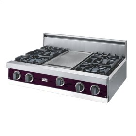 "Plum 36"" Open Burner Rangetop - VGRT (36"" wide, four burners 12"" wide griddle/simmer plate)"