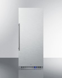 10.1 CU.FT. Commercial All-refrigerator With Stainless Steel Interior and Exterior, Digital Thermostat, Lock, and Automatic Defrost Operation