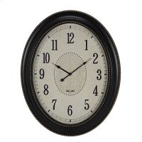 OVAL CLOCK MATTE BLACK Product Image