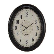 OVAL CLOCK MATTE BLACK