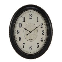 OVAL CLOCK MATTE BLACK