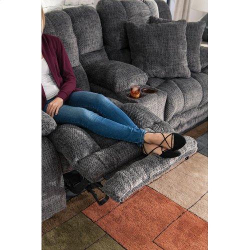 Power Lay Flat Reclining Sofa w/ Extended Ottoman