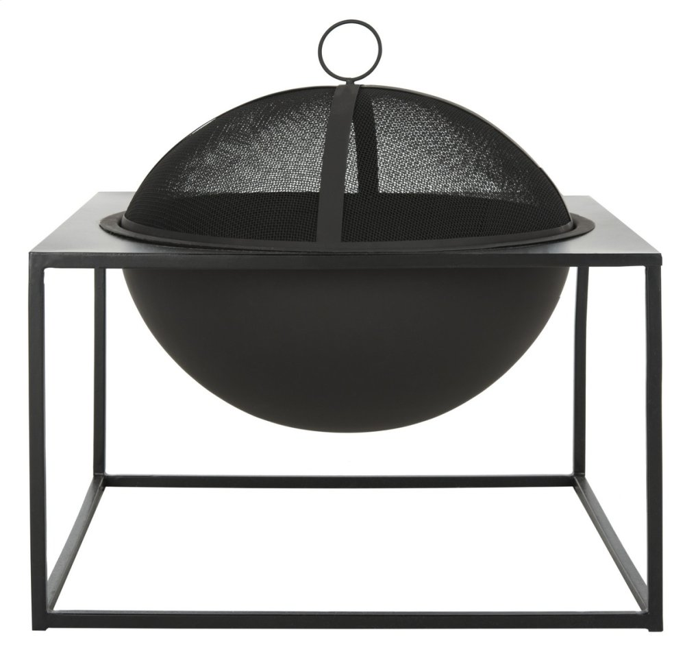 Leros Square Fire Pit - Black