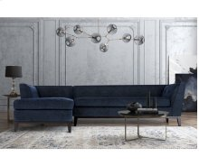 Jess Navy Textured Linen LAF Sectional