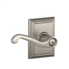 Flair Lever with Addison trim Bed & Bath Lock - Satin Nickel