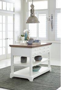 Island - Light Oak/Distressed White Finish Product Image