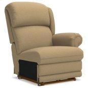 Kirkwood PowerReclineXR® Left-Arm Sitting Reclina-Rocker® Recliner w/ Brass Nail Head Trim