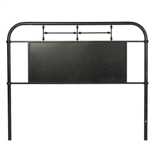 King Metal Headboard - Black