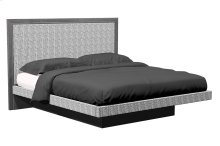 American Modern 1-Panel Upholstered Queen Platform Bed