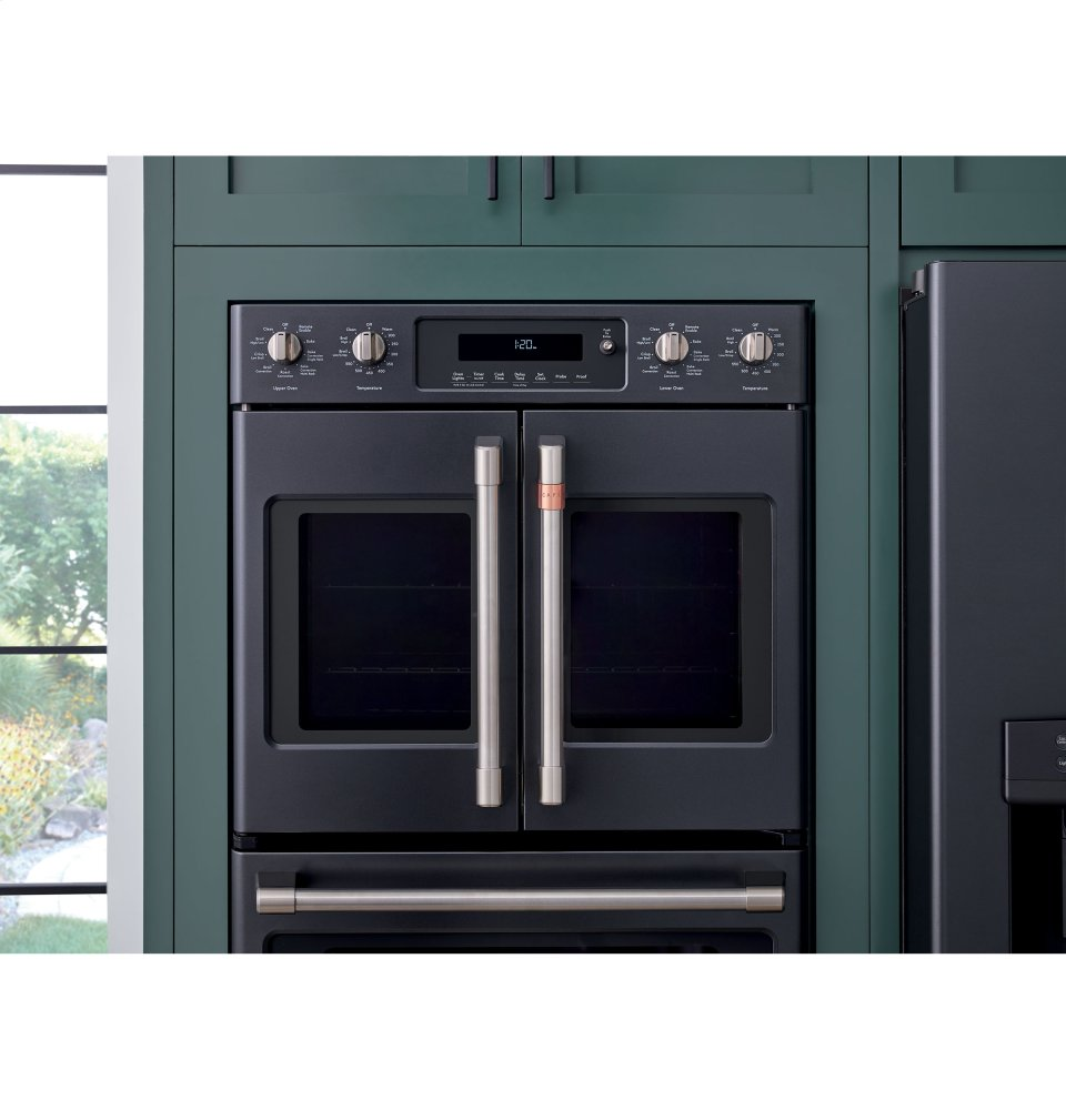 Ctd90fp3md1 Cafe 30 Quot Smart French Door Double Wall Oven With Convection Matte Black