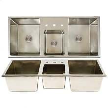 Lago-Cove-Lago Combination Sink - SK513 Silicon Bronze Brushed