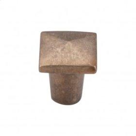 Aspen Square Knob 3/4 Inch - Light Bronze