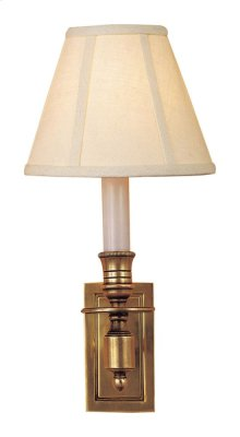 Visual Comfort S2210HAB-L Studio French 1 Light 6 inch Hand-Rubbed Antique Brass Decorative Wall Light in Linen