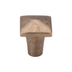 Aspen Square Knob 7/8 Inch - Light Bronze