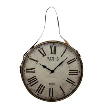 Metal Wall Clock, Gold