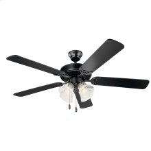 "Kichler Basics Premier 52"" Fan Satin Black"