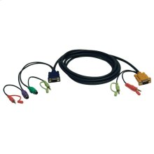VGA/PS2/Audio Combo Cable Kit for KVM Switch B006-VUA4-K-R, 10-ft.