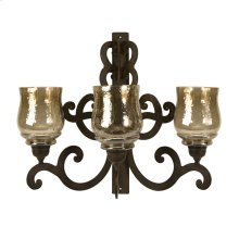 Forged Iron Triple Wall Sconce