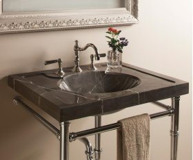 Vintage Washbasin, 27 Inch, Marquina Taupe Marquina Taupe