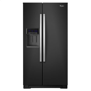 36-inch Wide Side-by-Side Refrigerator with Temperature Control - 26 cu. ft. - BLACK