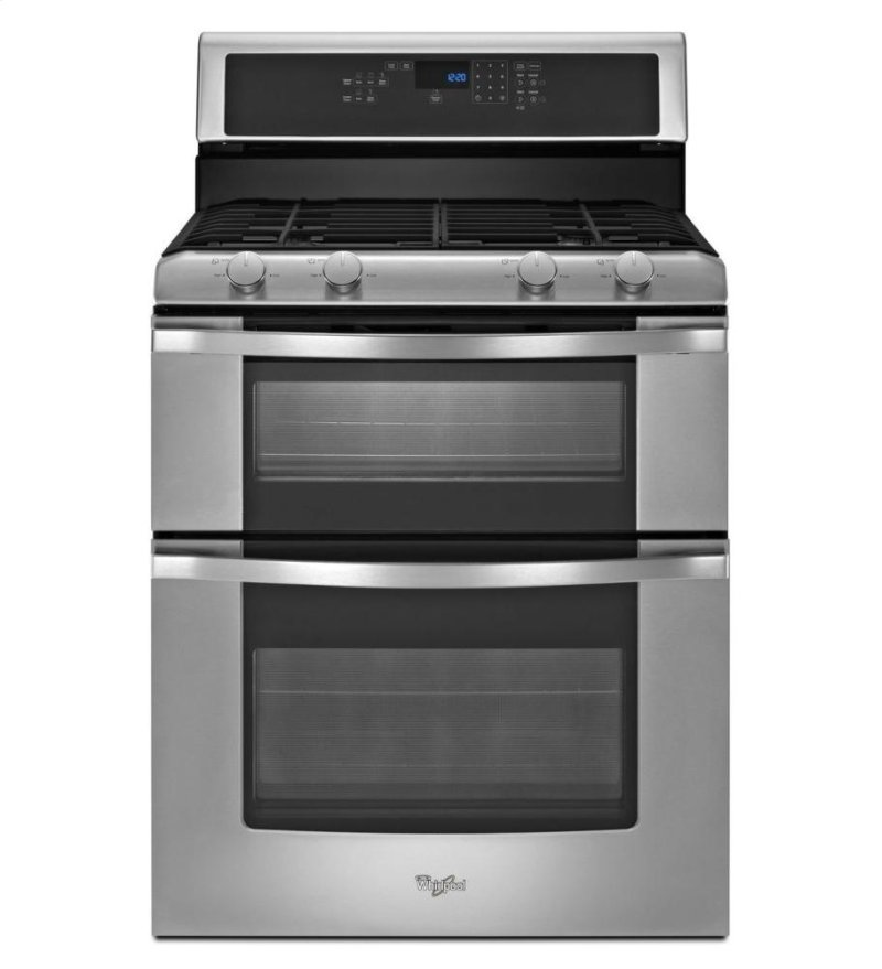 6 0 Total cu  ft  Double Oven Gas Range with AccuBake® system