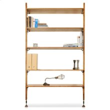 Theo Wall Unit With Large Shelves  Hard Fumed