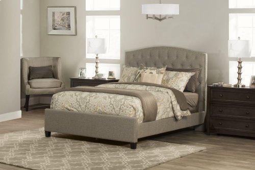 Lila King Bed - Natural Herringbone