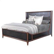 Queen Canvas Bed in Worn Black