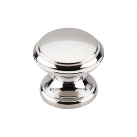 Flat Top Knob 1 3/8 Inch - Polished Nickel