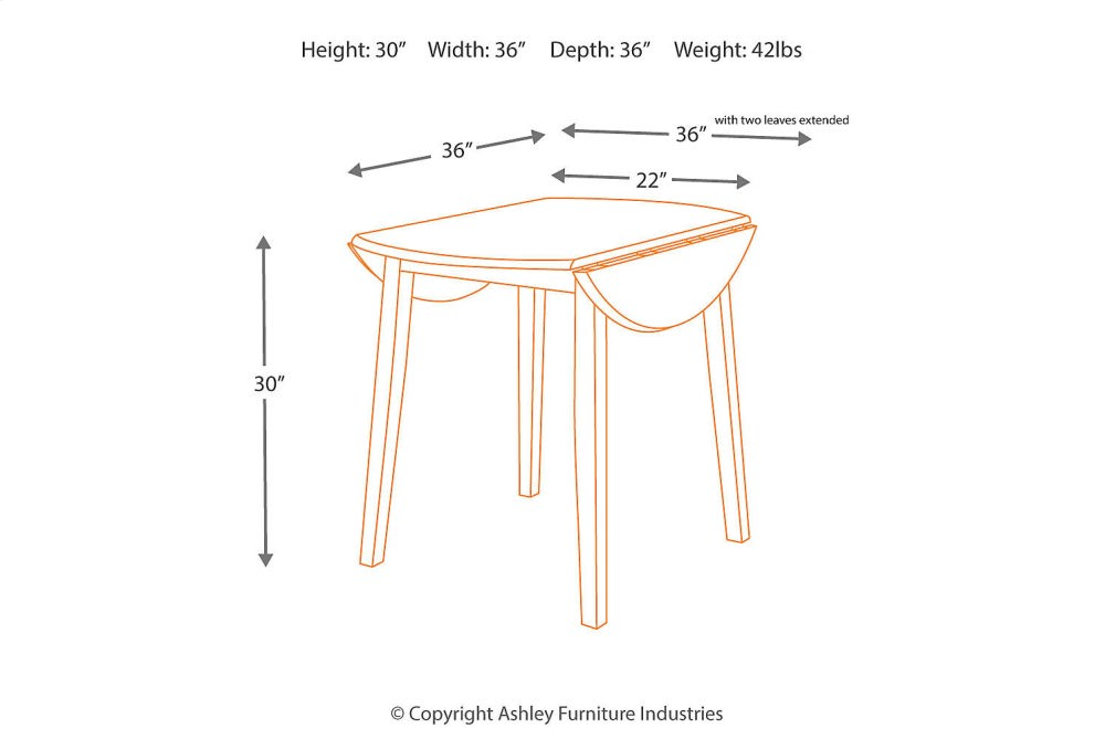 Hidden · Additional Round DRM Drop Leaf Table
