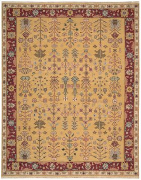 Nourmak Sk92 Yellow 605 Rectangle Rug 7'10'' X 9'10''