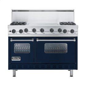 """Viking Blue 48"""" Sealed Burner Self-Cleaning Range - VGSC (48"""" wide, four burners & 24"""" wide griddle/simmer plate)"""